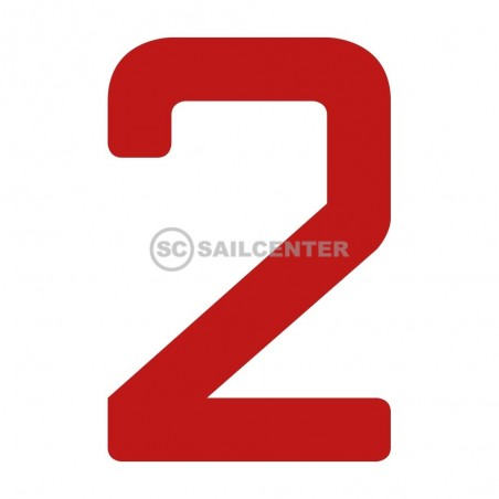 Sail number 230mm red